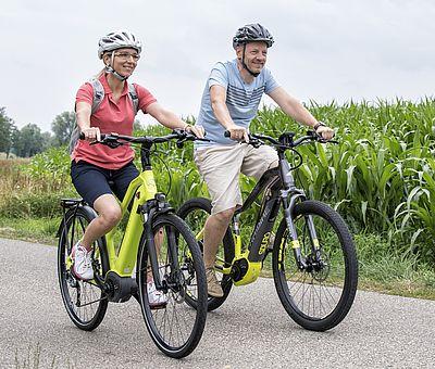 Radfahrer unterwegs im Landkreis Günzburg